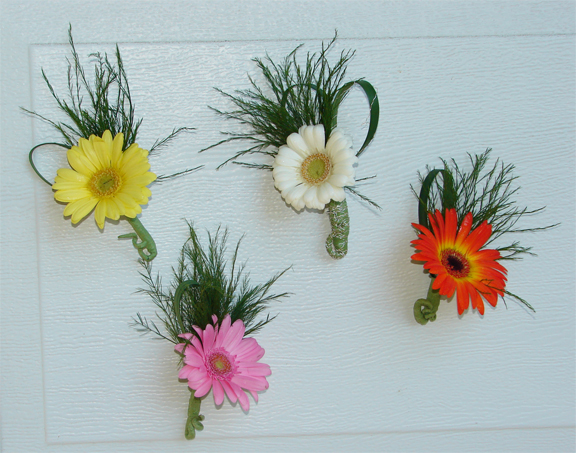 Colourful Boutonnieres