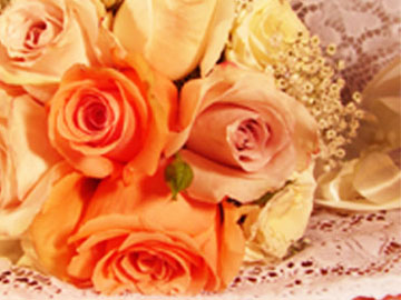 Peaches & Orange Wedding Flowers