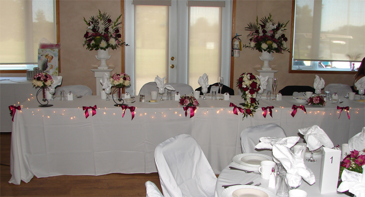 Sherry's Head Table