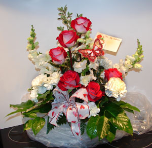 Large Valentines arrangement